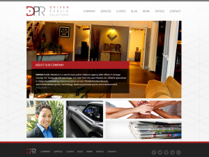 DRIVEN Public Relations Homepage
